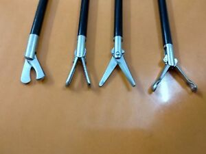 4 Pc Laparoscopic Sccissors Hook Babcock Inserts Grasping Forceps Instrument 5mm