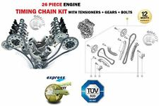 FOR 3.0DT V9X V6 24v ENGINE 2993cc NEW TIMING CHAIN TENSIONER KIT + GEARS