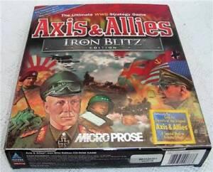 NEW Axis & Allies Iron Blitz Edition MicroProse Windows 98 / Me / 95 RARE GAME