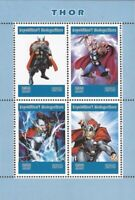 Madagascar - 2019 Marvel Comics Superhero Thor - 4 Stamp Sheet - 13D-261
