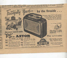 "Astor ""P.S."" Radio Advertisement removed from a 1953 Australian Newspaper"
