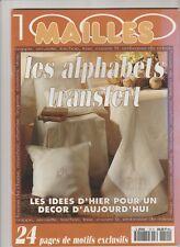 1000 Mailles Les alphabets transfert,  monogrammes à broder