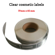1000pcs Eas 8.2Mhz Checkpoint Clear Square Soft Labels,19X65mm Cosmetic, Lip