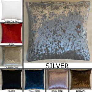 Premium Crushed Velvet Cushion With Pad Insert Handmade Pillow Sofa Home Decor