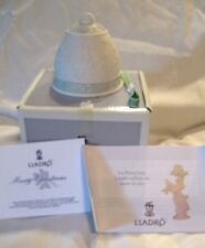 Lladro Christmas Bell Ornament Nib New 1992 Bas Relief Ribbon Spain 15913 Coa