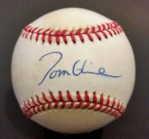 TOM GLAVINE Signed Official NL MLB BASEBALL Braves Autographed Auto SGC COA 1885