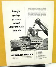 1952 Autocar Ad Proof Commercial Diesel Dump Truck Engineering News Record