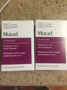 Lot of 2 Murad Hydration Prebiotic Cleanser Deluxe Sample Size