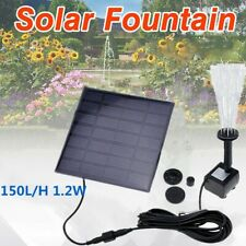 Solar Fountain Water Pump Panel Garden Pond Pool Submersible Watering Kit 150L/H