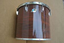 """70's/80's Ludwig USA 16"""" CONCERT TOM in MAHOGANY CORTEX for YOUR DRUM SET #C417"""