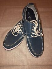Cole Haan Casual Blue Canvas Lace Up Deck Boat Shoes 10M