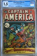 Captain America Comics #19 (1942) CGC 1.5 -- Human Torch, Hitler, and Tojo apps.