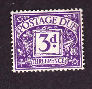 Great Britain GVI 1937 3d postage due mm, fine, sgD30,