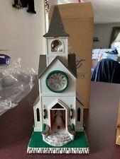 Avon Majestic Inspirational Chapel Clock Lights Angel Music Nib