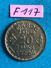 Maroc - Protectorat français : 20 francs 1952  UNC/FDC