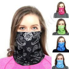 Women Face Mask Cover Tube Bandana Headband Scarf Paisley Neck Gaiter