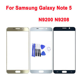 For Samsung galaxy Note 5 front touch screen outer glass lens replacement+ tools