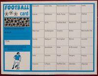 x1 40 TEAM FOOTBALL FUNDRAISING SCRATCH CARD