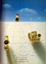 1987 Bvlgari Bulgari Watch Jewelry Retro Print Ad Advertisement Vintage VTG 80s