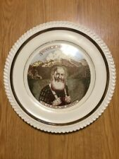 "Vintage West Virginia Souvenir Plate 10"" Ole Man Of The Mountain R.F. Crosser"