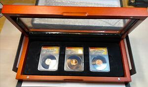 2019-W  West Point Lincoln Cent 3 Coins ANACS SP70 PR70DCAM RP70DCAM, No Reserve