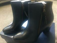 BRAND NEW, size 6 - Ralph Lauren Polo Leather Heel Boots, Zipped, Black - Womens