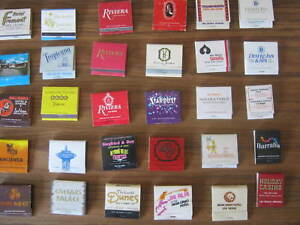 VINTAGE AND RARE USA CASINO  COLLECTABLE MATCHBOOKS