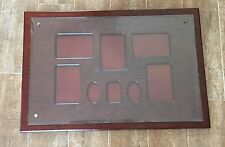 "19 x 28"" Bombay Company mahogany wall picture frame photo collage wood group"