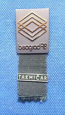 PIN BADGE BOXING WORLD AMATEUR CUP BELGRADE 1978 - PARTICIPATION PIN -COMPETITOR