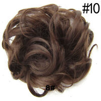44 Colors Pony Tail Women Clip On Hair Bun Hairpiece Extension Scrunchie Beauty