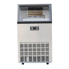 Stainless Steel Commercial Ice Maker Automatic Ice Machine 100lbs/D Auto Clean