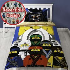 LEGO NINJAGO MOVIE GURU SINGLE DUVET COVER SET REVERSIBLE KIDS BOYS
