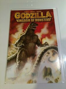 Godzilla Kingdom of Monsters 1 cover B fold out Powell Marsh Hester
