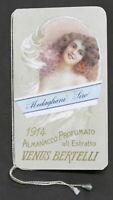 Almanacco profumato all'Estratto Venus Bertelli - Calendarietto 1914