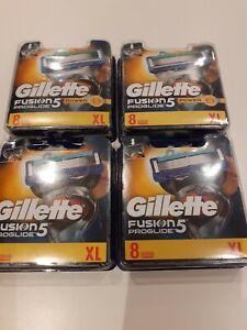 4 x GILLETTE  RRP £97.2 FUSION5 MEN'S PROGLIDE RAZOR BLADES ( 8 blades)