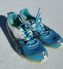 ASICS RUNNING SHOES TRACK SPIKES Women's Size 9.5 Light Blue and White Colors