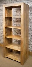 Mantis Cube Bookcase Solid Light Mango Wood Room Divider Natural Dakota 5 shelf