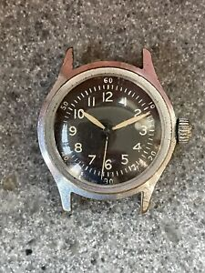 Vintage Waltham Manual 6/0 Military Watch