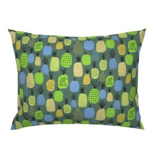 Fruit Pattern Pineapples Fruit Juicy Lime Pillow Sham by Roostery