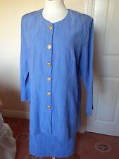 Chianti Blue Designer Skirt Suit Size 18