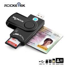 Rocketek USB 3.0 2.0 Multi lector de tarjetas inteligentes SD/TF Micro SD Tarjeta de memoria, ID, Banco