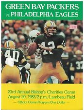 Aug 20 1983 Eagles v Green Bay Packers Program Lambeau Bishop's Charities Game