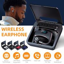 New listing Bluetooth 5.2 Earpiece Wireless Driving Trucker Headset Stereo In Ear Earbuds