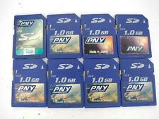 Lot Of 8x PNY 1GB SD Camera Memory Cards