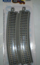 """BACHMANN 44503 E-Z TRACK SYSTEM 22""""RADIUS CURVED TRACK(4 PER CARD)HO SCALE NEW"""