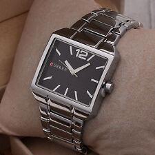 Orologio Polso Curren 8132 Uomo Analogico Quarzo Moderno Silver Quadr Nero lac