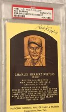 1964-HOF YELLOW PLAQUE RED RUFFING PSA//DNA AUTO