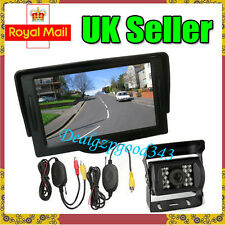 "Wireless 18 LED IR Reverse Camera + 4.3"" LCD Monitor Car Rear View Kit UK"