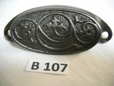"""c1880 SET of 11 matching authentic VICTORIAN cabinet pull hardware 3.75/"""" on hole"""