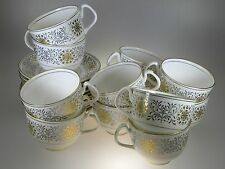 Coalport Spanish Lace LOT of 9 Cups and 10 Saucers